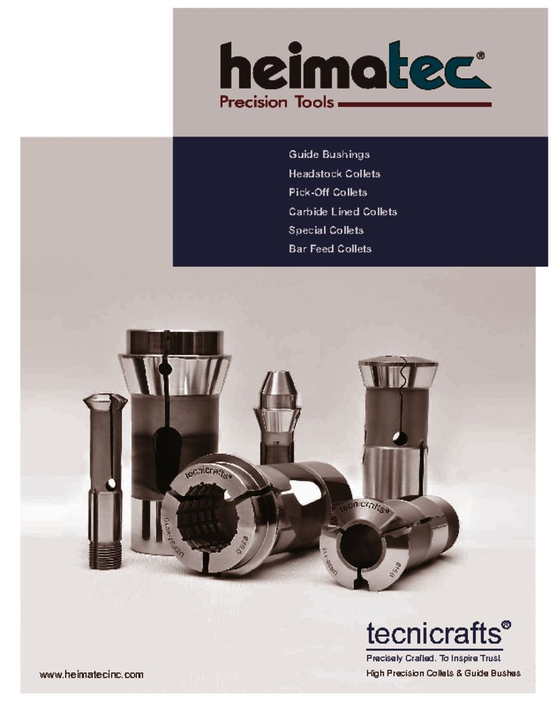 Heimatec-Tecnicrafts Swiss Collets and Bushings