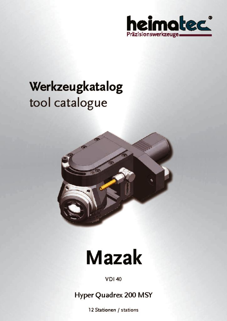 Mazak HQ 200 – 12 Stationen, VDI 40