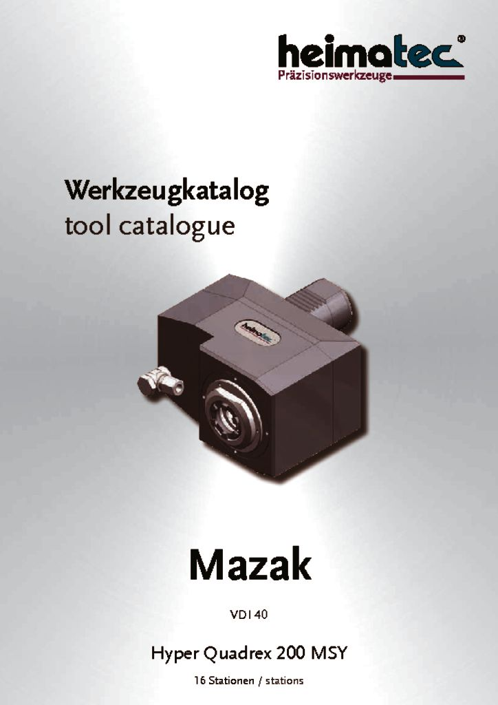 Mazak HQ 200 – 16 Stationen, VDI 40