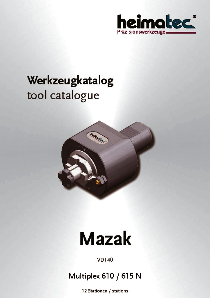 Mazak MP 610 615 – 12_Stationen, VDI 40