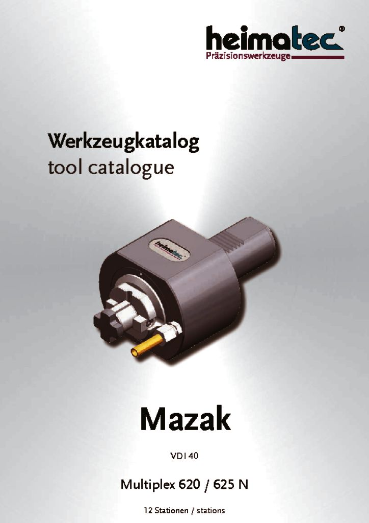 Mazak MP 620 625 – 12 Stationen, VDI 40