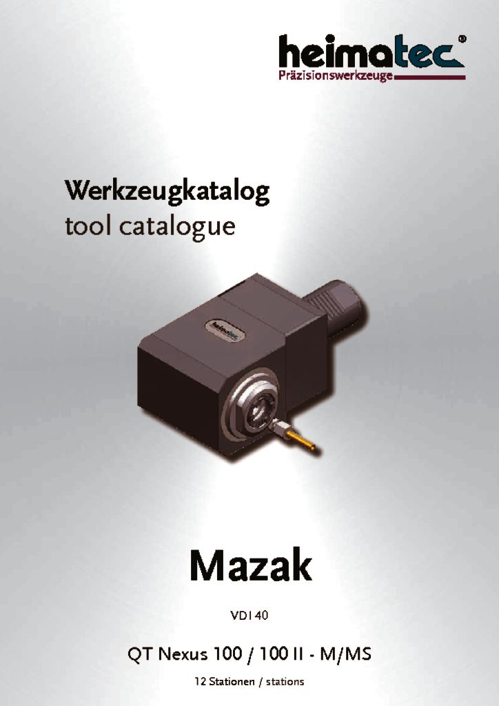 Mazak QTN 100 – 12 Stationen, VDI 40