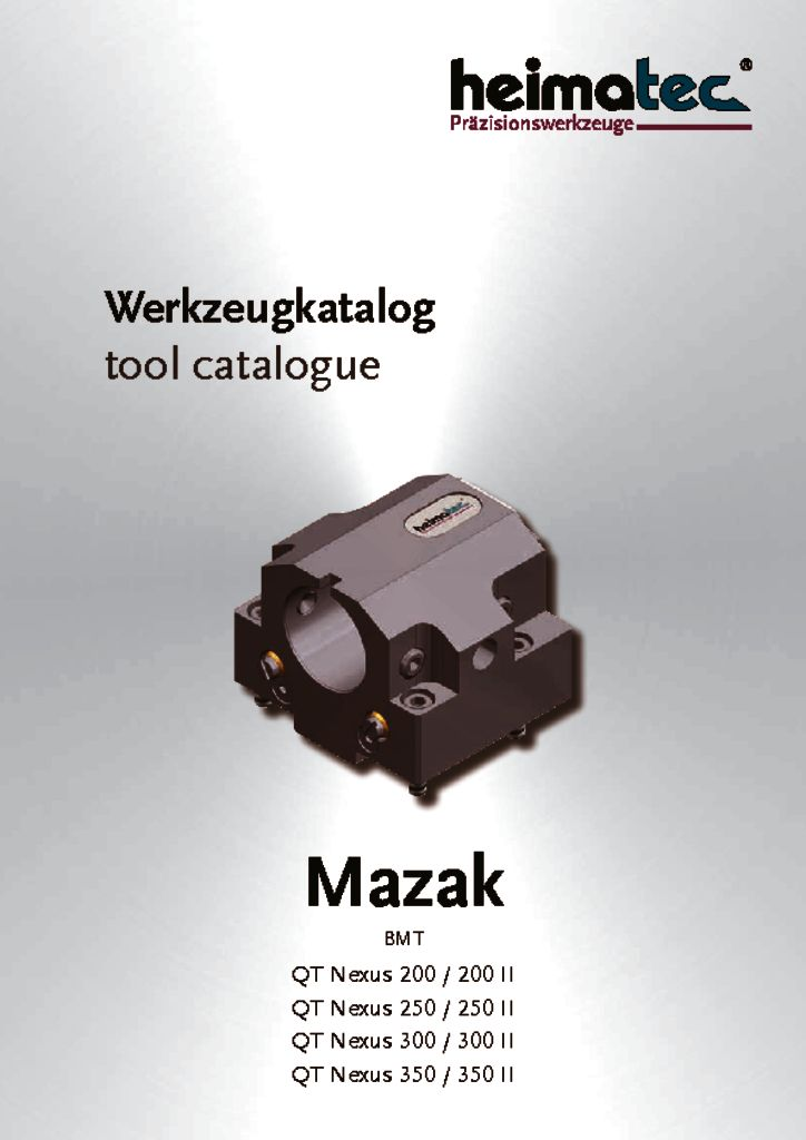 Mazak QTN 200II QTN 250II QTN 300II QTN 350II, BMT