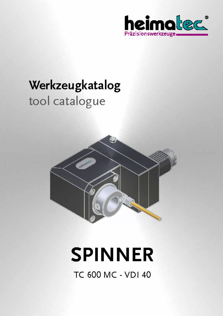 thumbnail of SPINNER_TC_600_MC_VDI_40_heimatec_tool_catalogue