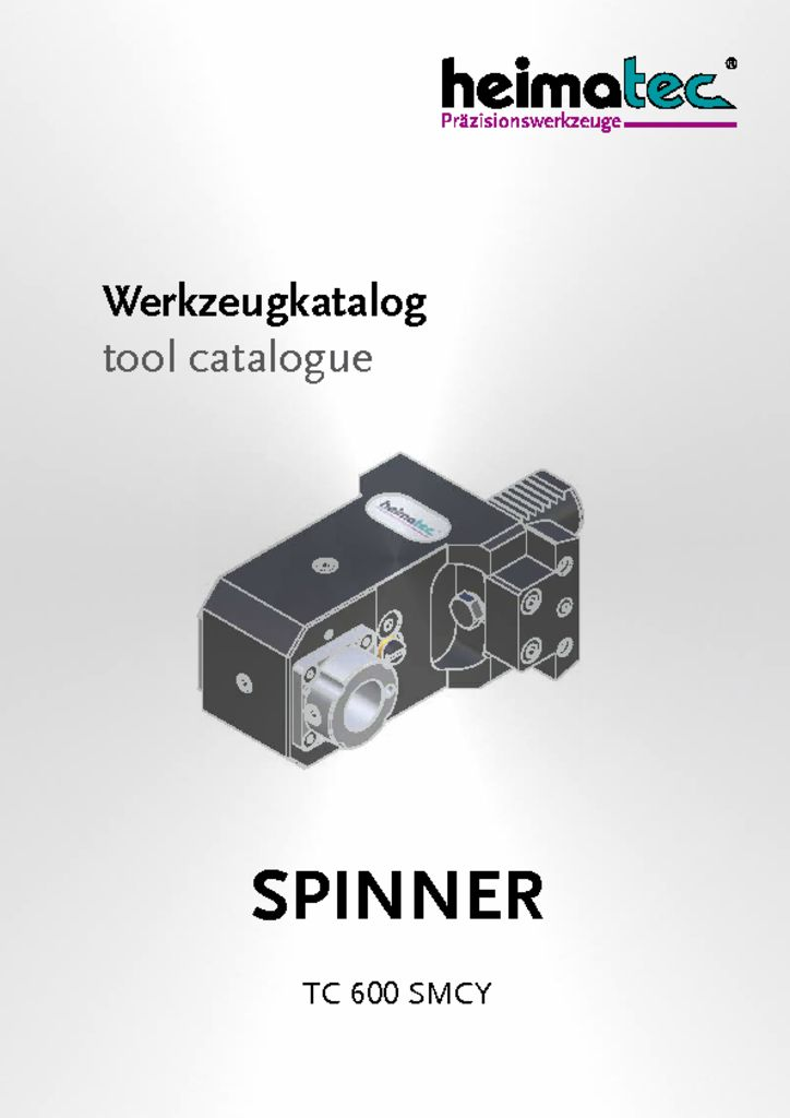 thumbnail of SPINNER_TC_600_SMCY_heimatec_tool_catalogue