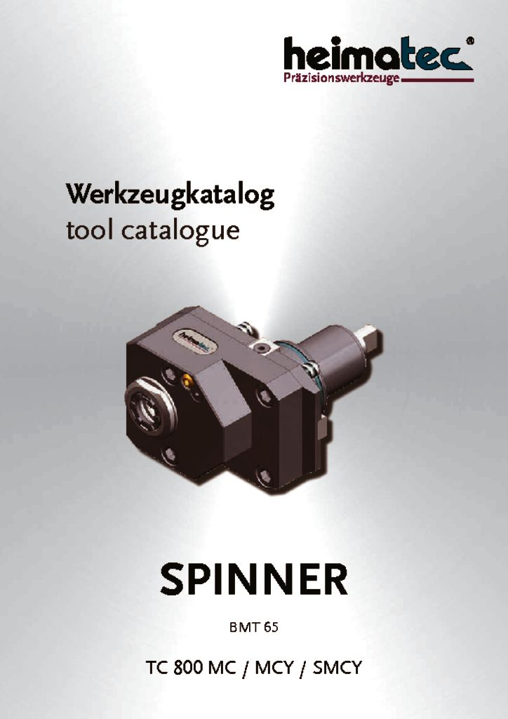 thumbnail of SPINNER_TC_800_MC_MCY_SMCY_BMT_65_heimatec_tool_catalogue