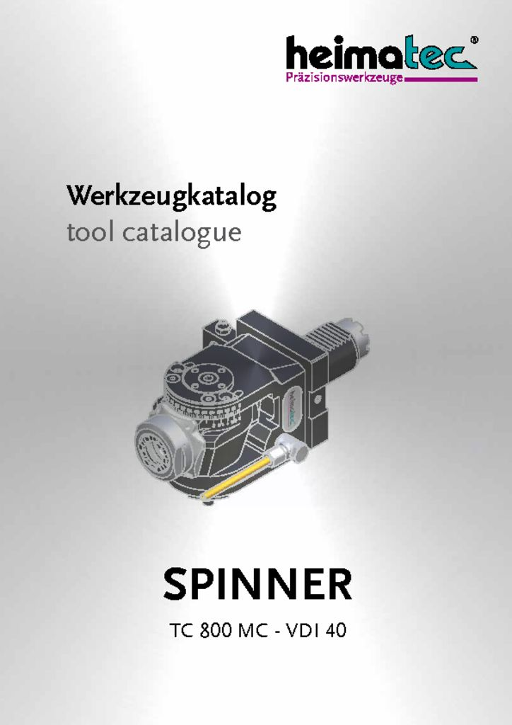 thumbnail of SPINNER_TC_800_MC_VDI_40_heimatec_tool_catalogue