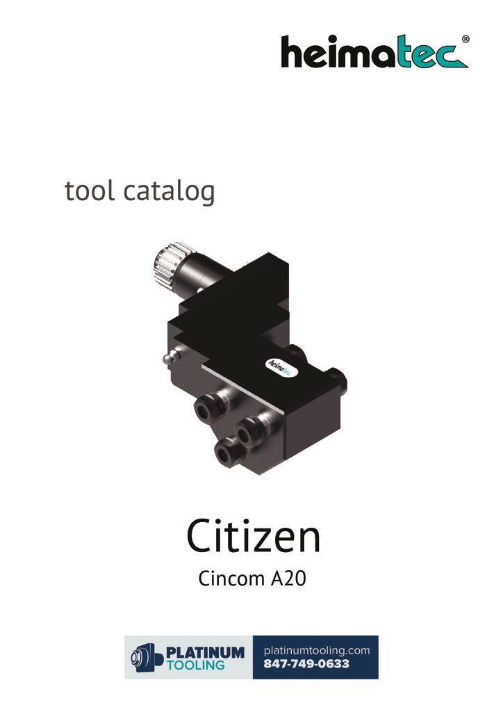 Citizen A20 Heimatec Catalog for Live and Static Tools