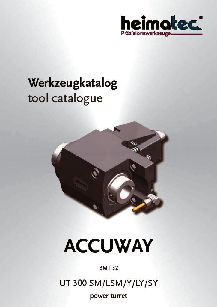 ACCUWAY UT 300 SML-LSM-Y-LY-SY power turret, BMT 32