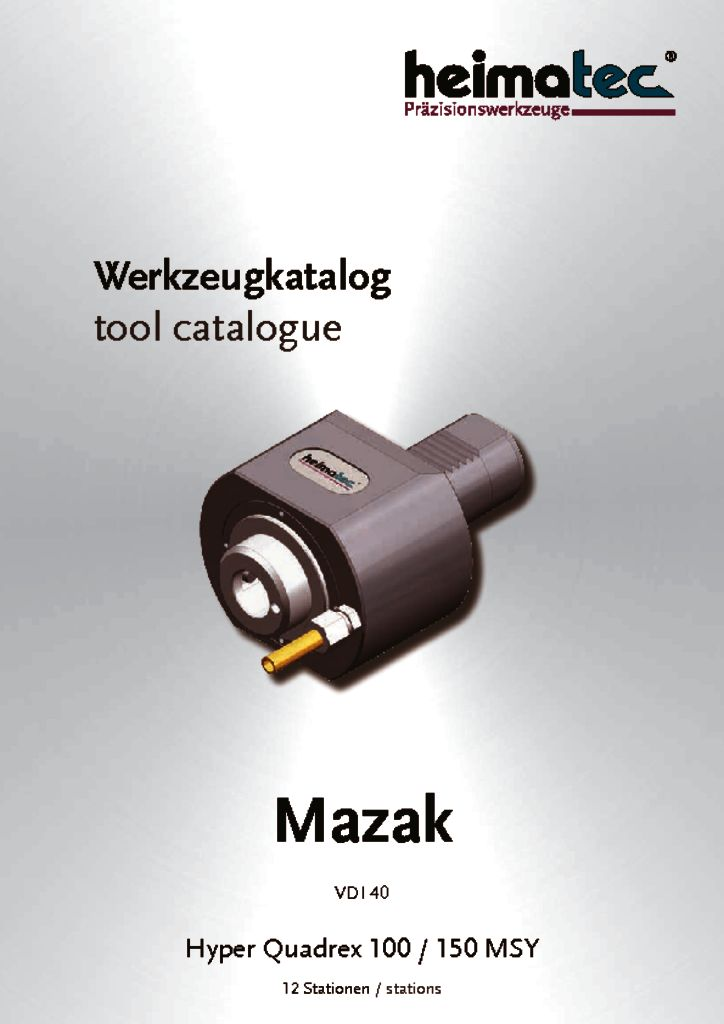 Mazak HQ 100 150 – 12 Stationen, VDI 40