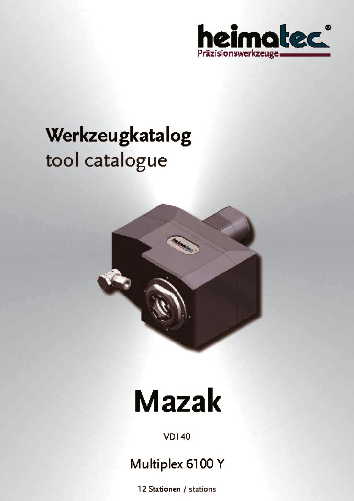Mazak MP 6100 – 12 Stationen, VDI 40