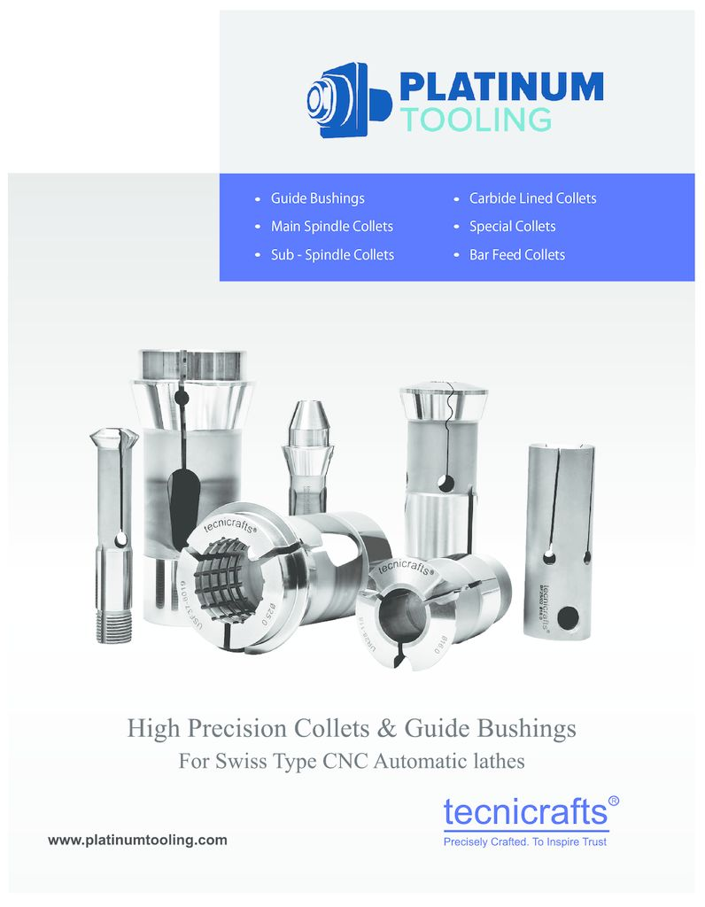 thumbnail of Platinum Tooling_Tecnicrafts Collets and Guide Bushings 2019