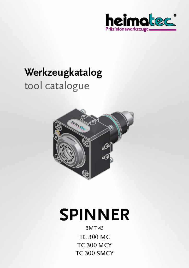 thumbnail of SPINNER_TC_300_MC_MCY_SMCY_BMT45_heimatec_tool_catalogue