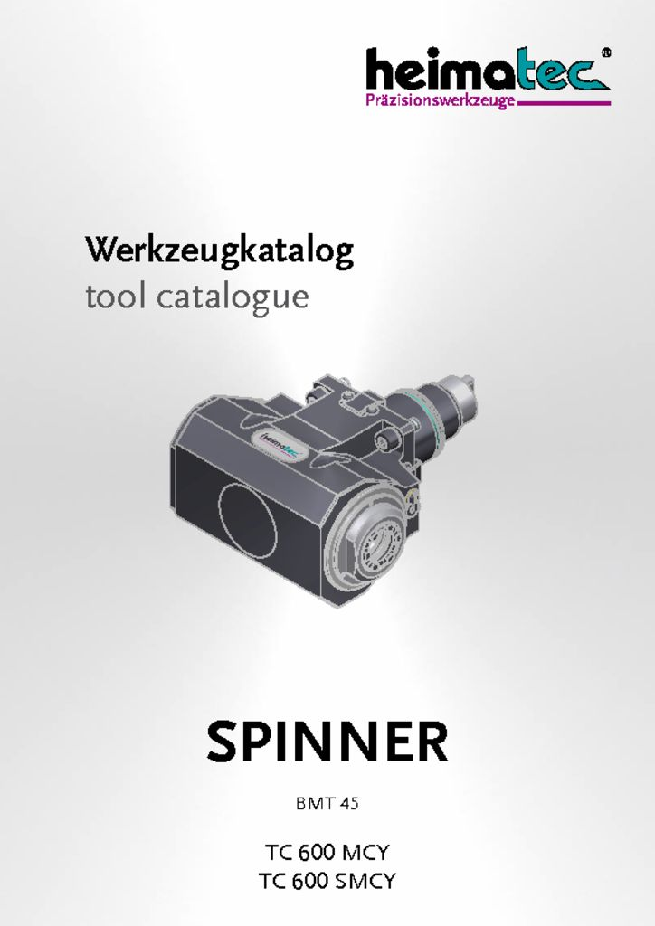 thumbnail of SPINNER_TC_600_MCY_SMCY_BMT45_heimatec_tool_catalogue