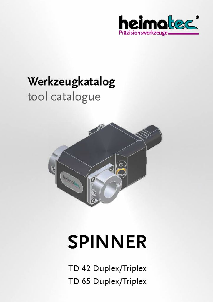 thumbnail of SPINNER_TD_42_-_65_Duplex_Triplex_heimatec_tool_catalogue