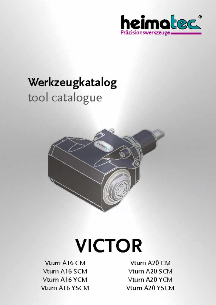 VICTOR Vturn A 16 – A 20 – CM SCM YCM YSCM
