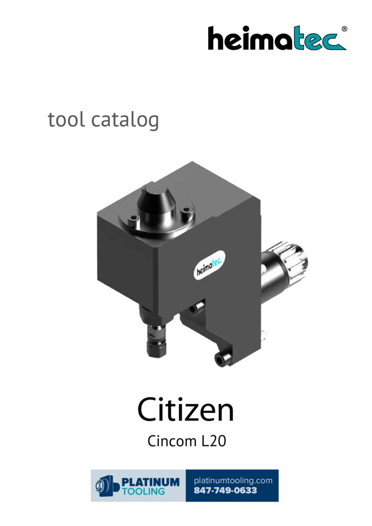 Citizen L20 Heimatec Catalog for Live and Static Tools