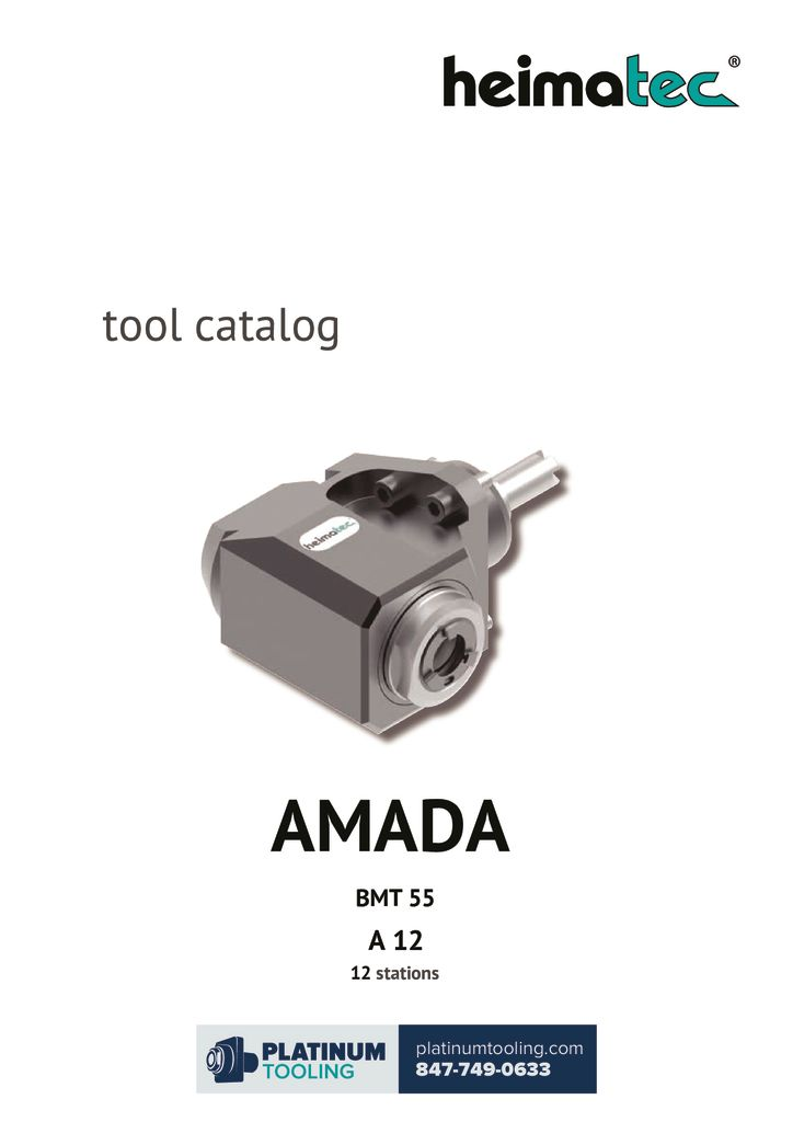 Amada A 12 BMT 55 Heimatec Catalog for Live and Static Tools