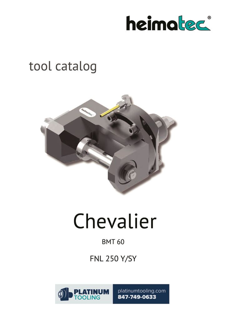 Chevalier FNL 250 Y-SY Heimatec Catalog for Live and Static Tools