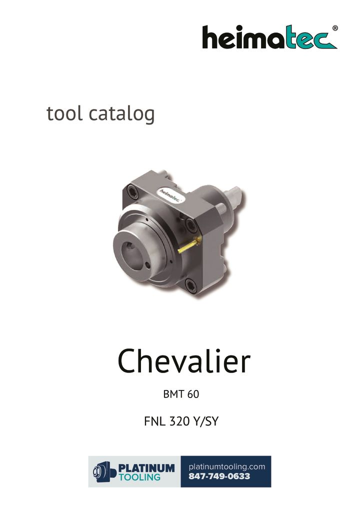 Chevalier FNL 320 Y-SY Heimatec Catalog for Live and Static Tools
