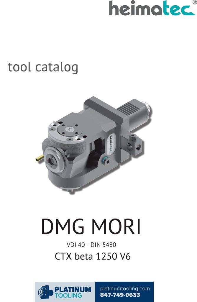 DMG Mori CTX beta 1250 V6 VDI 40-DIN 5480 Heimatec Catalog for Live and Static Tools
