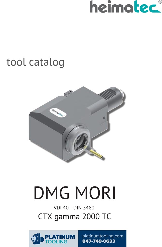 DMG Mori CTX gamma 2000 TC VDI 40-DIN 5480 Heimatec Catalog for Live and Static Tools