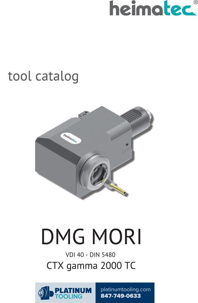 DMG Mori CTX gamma 2000 TC VDI 40-DIN 5480 Heimatec Catalog for Live and Static Tools