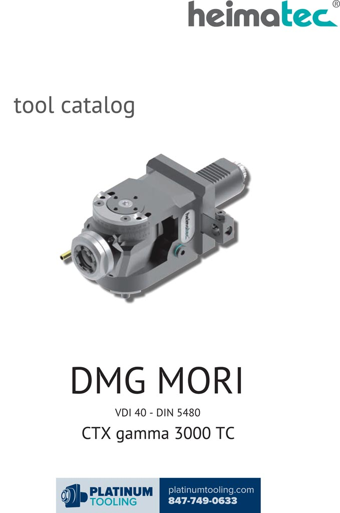 DMG Mori CTX gamma 3000 TC VDI 40-DIN 5480 Heimatec Catalog for Live and Static Tools