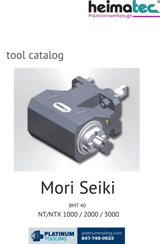 DMG Mori NT-NTX 1000-2000-3000 BMT 40 Heimatec Catalog for Live and Static Tools