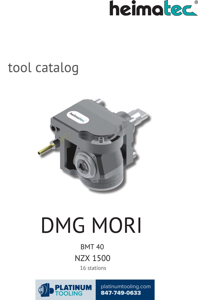 DMG Mori NZX 1500-16 Stat BMT 40 Heimatec Catalog for Live and Static Tools