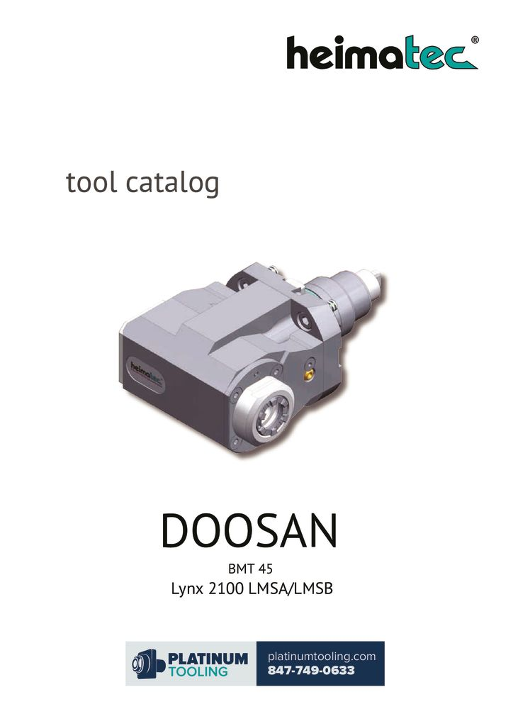 thumbnail of Doosan Lynx 2100 LMSA-LMSB Heimatec Catalog