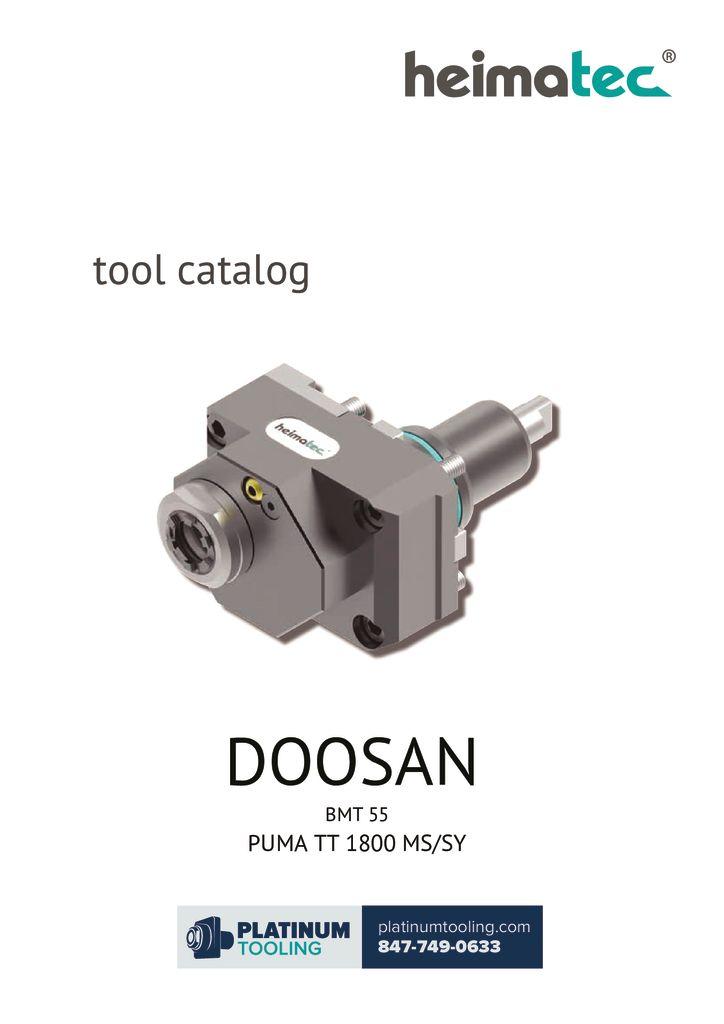 Doosan Puma TT 1800 MS-SY BMT 55 Heimatec Catalog For Live and Static Tooling