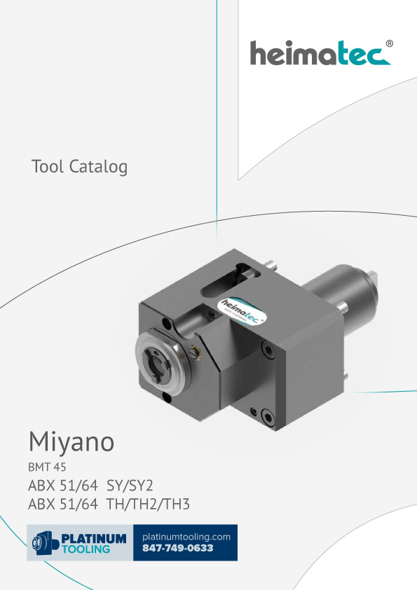 Miyano ABX 51-64 SY-SY2-TH-TH2-TH3 BMT 45 Heimatec Catalog for Live and Static Tools