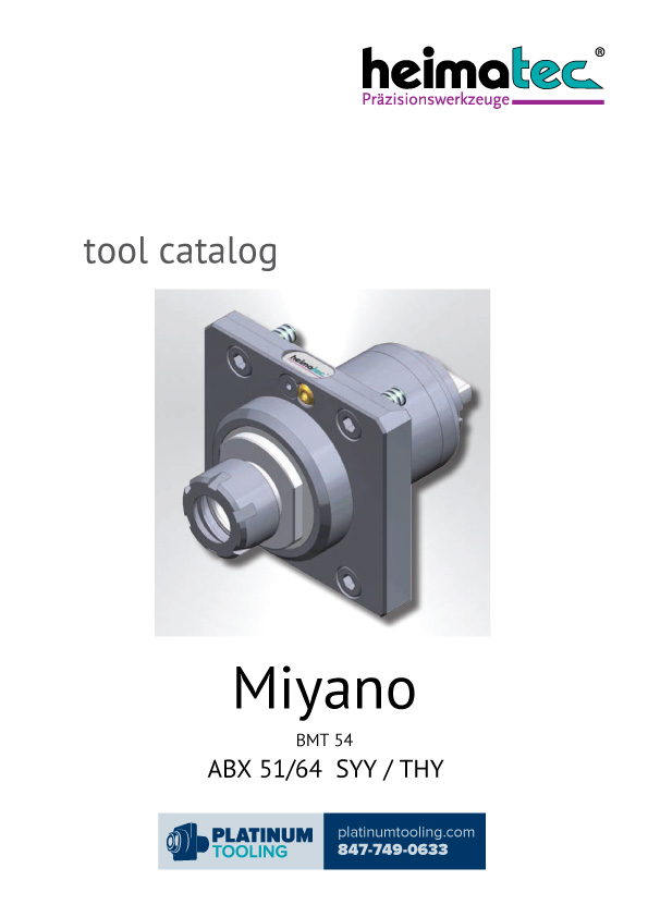Miyano ABX 51-64 SYY-THY BMT 54 Heimatec Catalog for Live and Static Tools