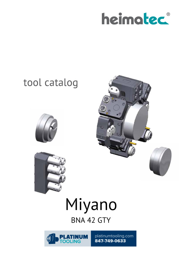 Miyano BNA 42 GTY Heimatec Catalog for Live and Static Tools