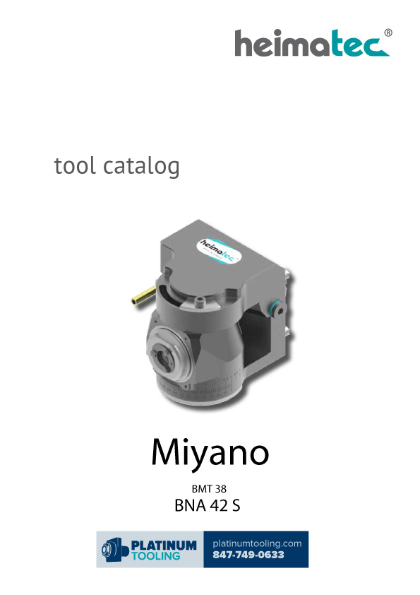Miyano BNA 42 S BMT 38 Heimatec Catalog for Live and Static Tools