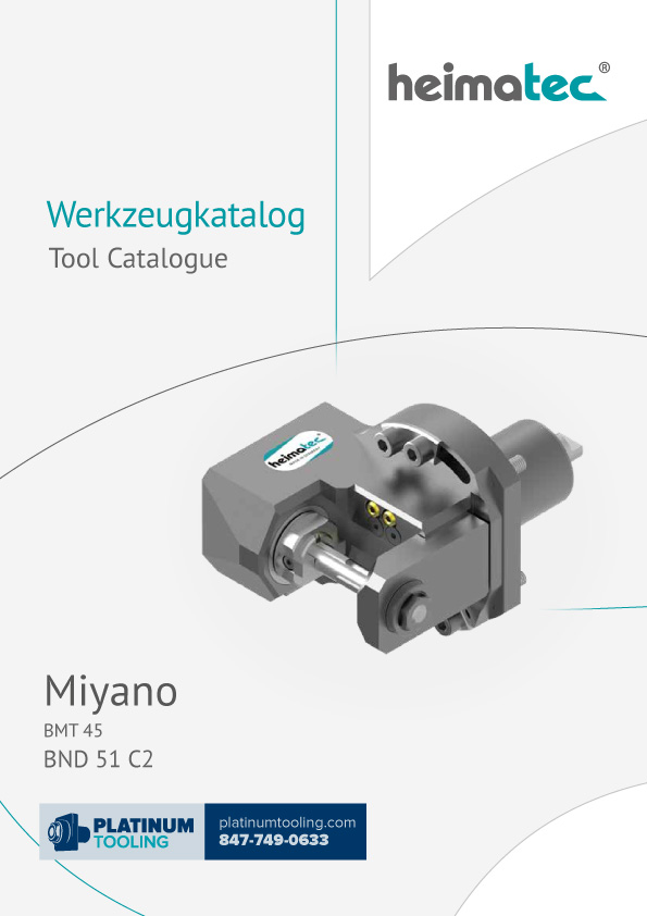 Miyano BND 51 C2 BMT 45 Heimatec Catalog for Live and Static Tools