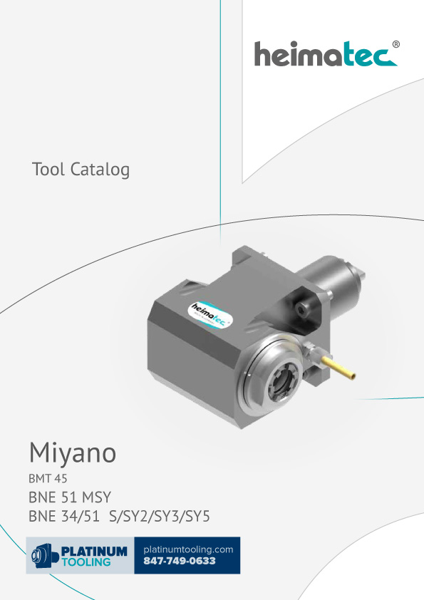 Miyano BNE 34-51 MSY-S-SY2-SY3-SY5 BMT 45 Heimatec Catalog for Live and Static Tools