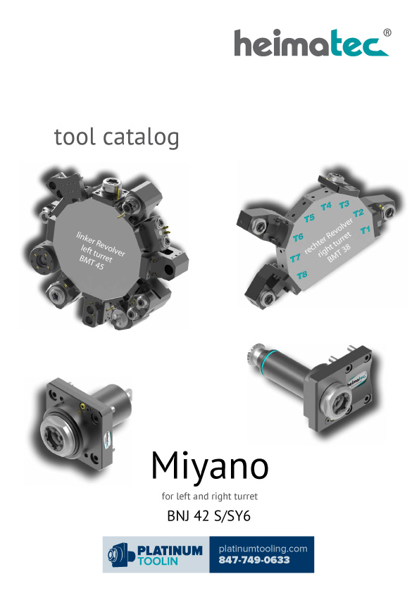 Miyano BNJ 42 S-SY6 BMT38-45 Heimatec Catalog for Live and Static Tools
