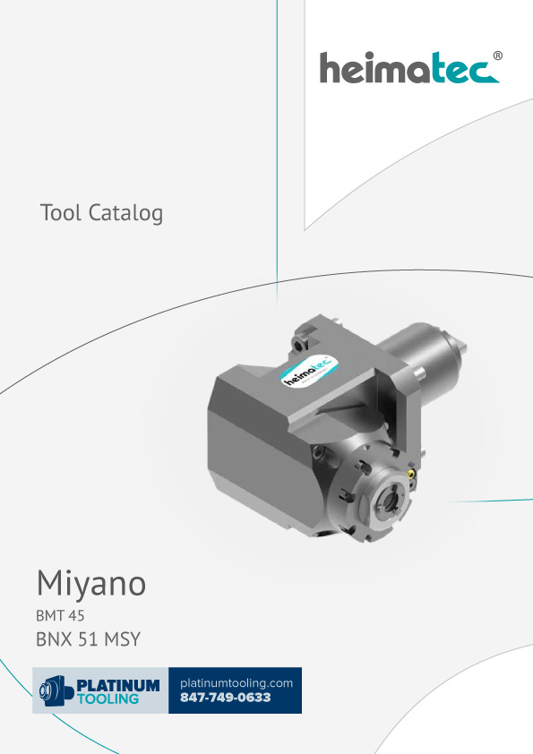Miyano BNX 51 MSY BMT 45 Heimatec Catalog for Live and Static Tools