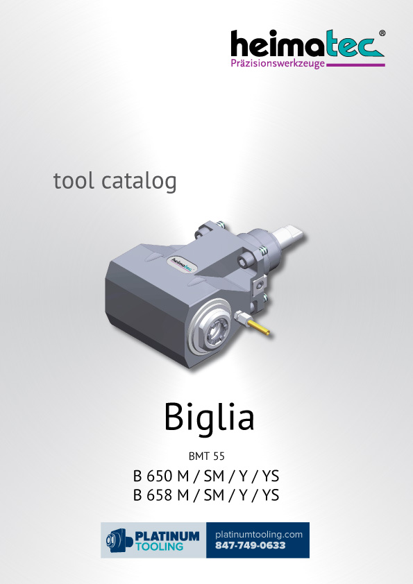 Biglia B 650-658 M-SM-Y-YS BMT 55 Heimatec Catalog for Live and Static Tools