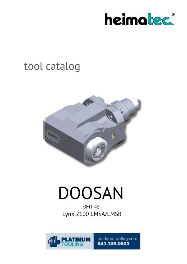 Doosan Lynx 2100 LMSA-LMSB Heimatec Catalog for Live and Static Tools