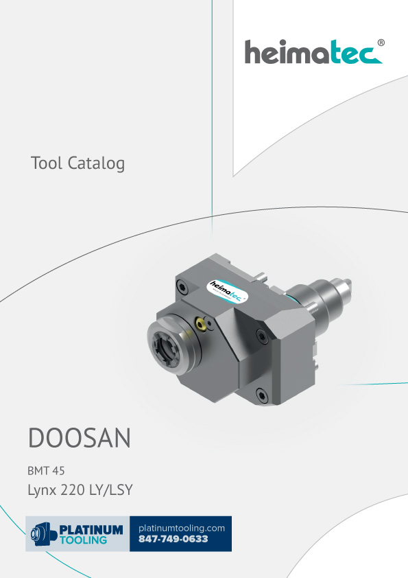 Doosan Lynx 220 LY-LSY BMT 45 Heimatec Catalog for Live and Static Tools