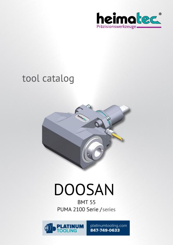 Doosan Puma 2100 BMT 55 Heimatec Catalog for Live and Static Tools