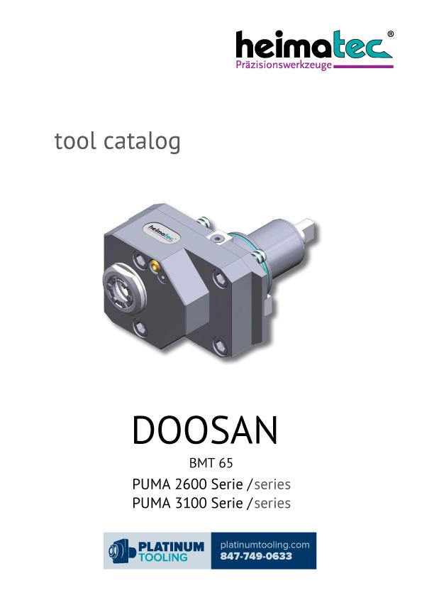 Doosan Puma 2600-3100 BMT 65 Heimatec Catalog for Live and Static Tools