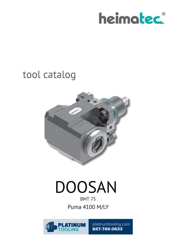 Doosan Puma 4100 M-LY BMT 75 Heimatec Catalog for Live and Static Tools