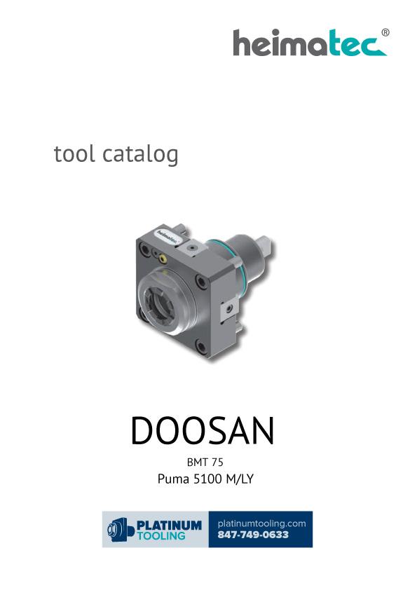 Doosan Puma 5100 M-LY BMT 75 Heimatec Catalog for Live and Static Tools