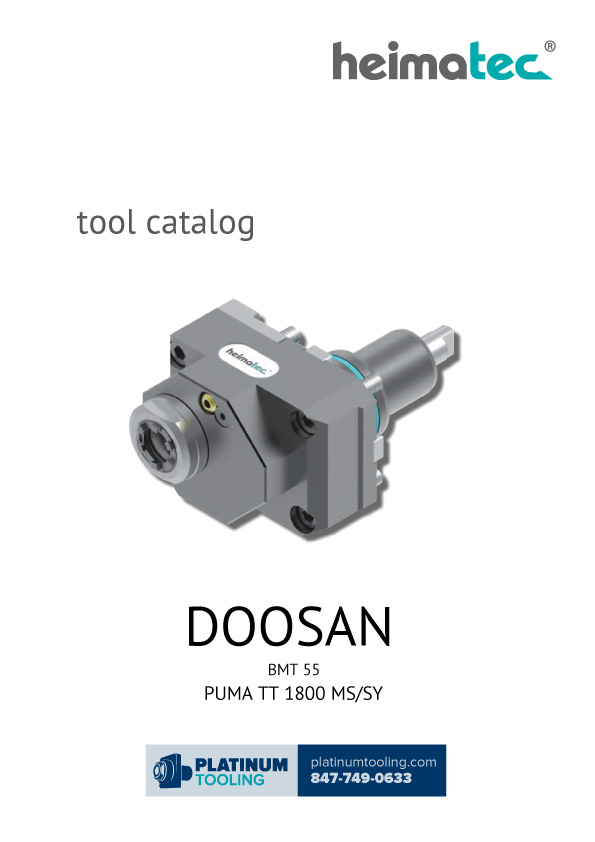 Doosan Puma TT 1800 MS-SY BMT 55 Heimatec Catalog for Live and Static Tools