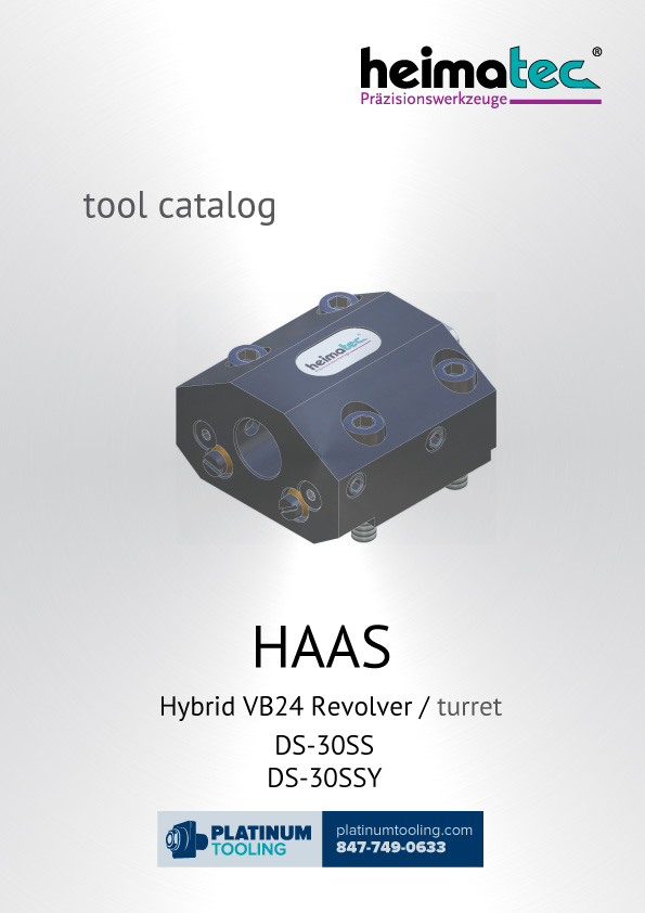 Haas DS-30SS(Y) Hybrid VB24 Heimatec Catalog for Live and Static Tools