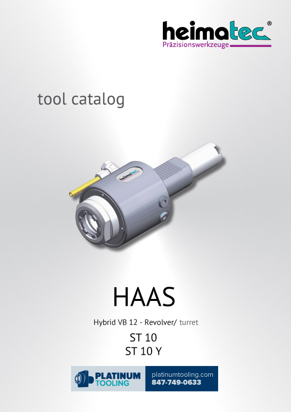 Haas ST-10(Y) Hybrid VB12 Heimatec Catalog for Live and Static Tools